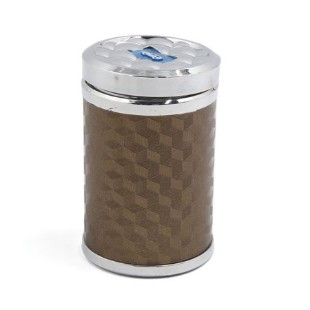 - Brown Shell Blue  Light  Smoke Ashtray Ash Cylinder Holder Cup