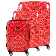 b9670794c7 FUL Printed Bandana Hard Sided 3 Piece Luggage Set, 29, 25, and 21in