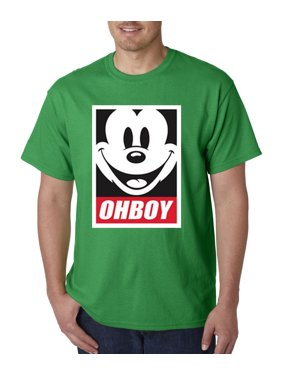2d5db447e Product Image New Way 416 - Unisex T-Shirt Oh Boy Mickey Mouse Face  Anonymous Dope