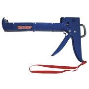 Westward 13J311 10 oz. Blue Caulk Gun, Smooth Rod
