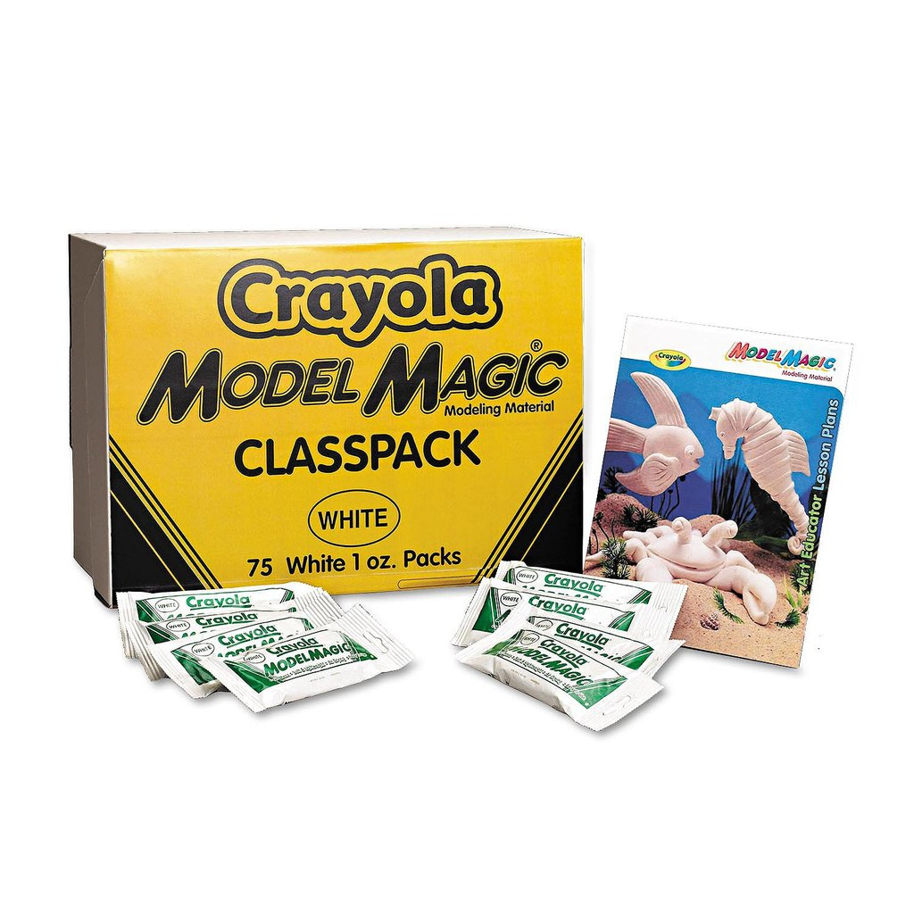Crayola Model Magic, White, Modeling Clay Alternative, 75 Packets, 1 Ounce Each