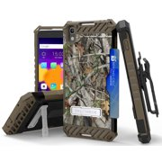 AUTUMN CAMO WOODS TREE STAND CASE BELT CLIP HOLSTER FOR ALCATEL IDOL 4 NITRO 49