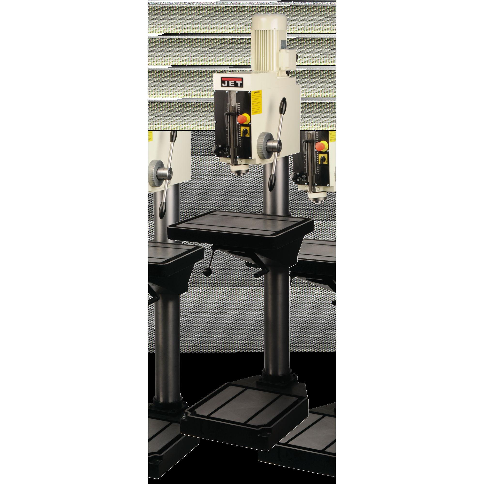 """JET J-A4008M-PF2 26"""" Arboga Gear Head Drill Press w/ Powerfeed 220V 3PH - 354040"""