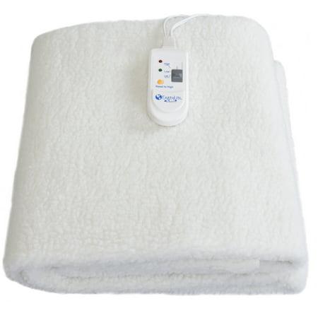 Earthlite Fleece Massage Table Warmer   Fleece Pad  Dual Heat Settings  Elastic Corner Straps  13Ft Power Cord
