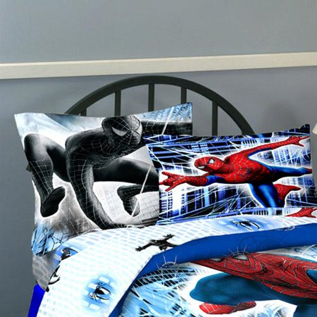 Jay Franco And Sons 12440813 Spiderman 3 Double Trouble Full Bedding Sheet Set ()