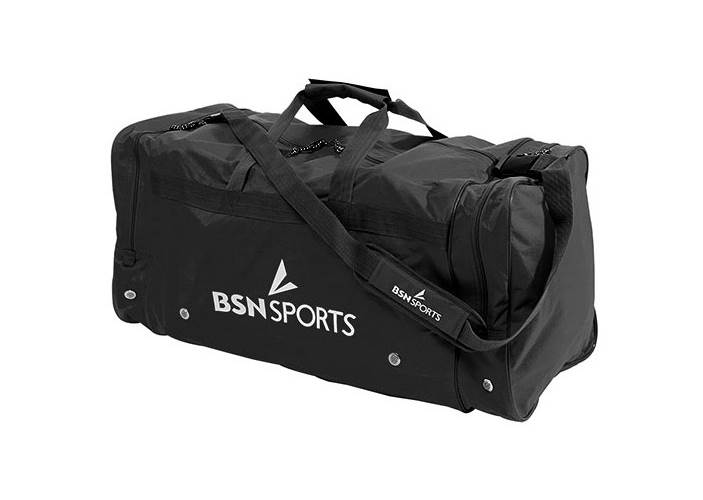 Sports Mid Team Duffle Bag with Handle in Black by Athletic Connection