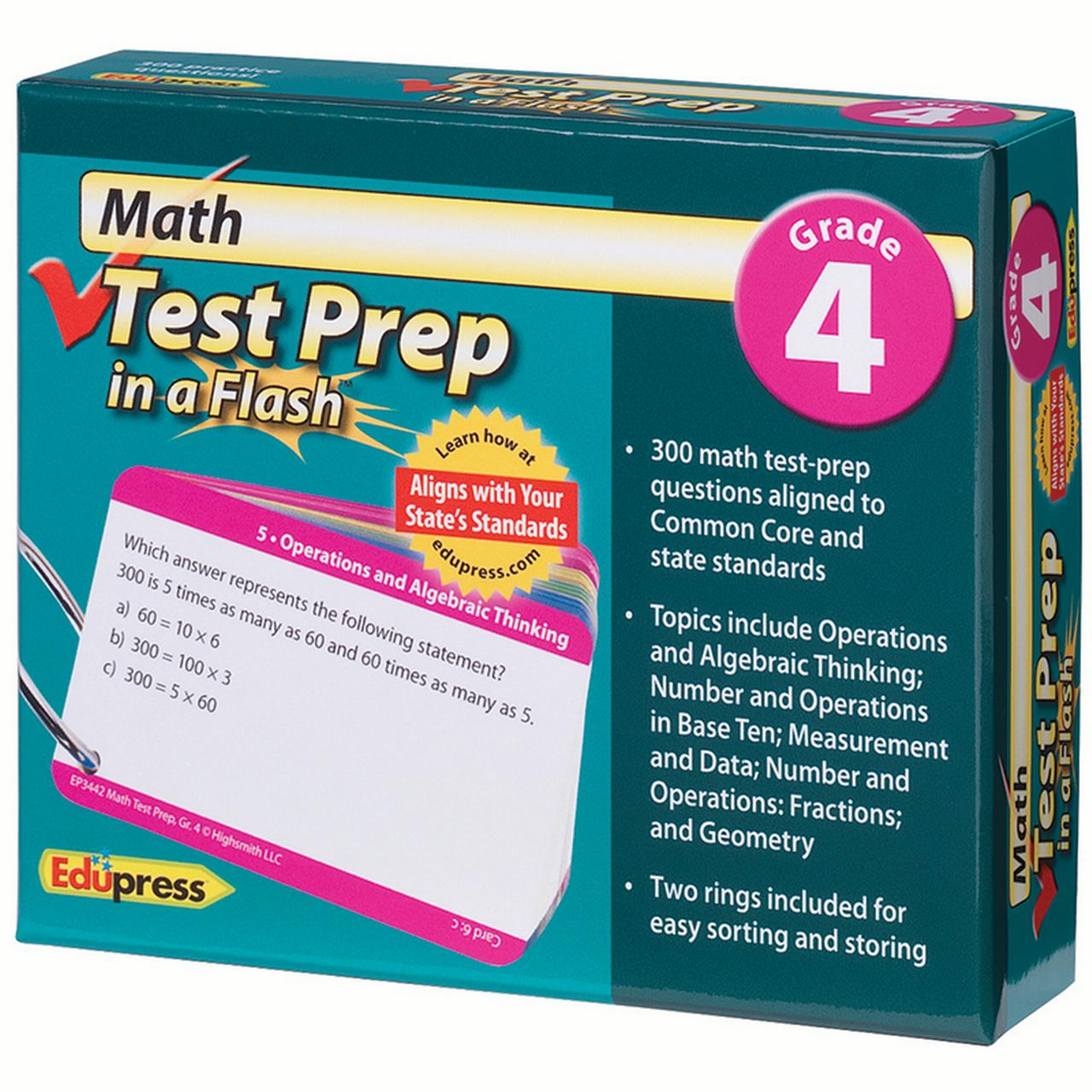 MATH TEST PREP IN A FLASH GR 4