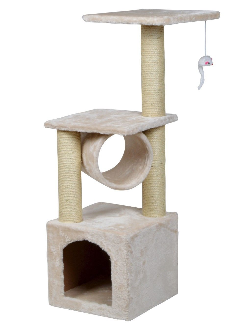 "TMS 36"" Deluxe Cat Tree Level Condo Furniture Scratcher Scratching Post Kittens Pet Play House with Mouse... by"