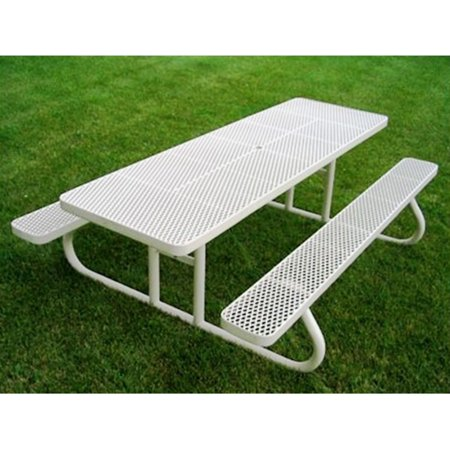Awe Inspiring Premier Polysteel Champion Commercial Free Standing Rectangle Picnic Table With Attached Benches Gmtry Best Dining Table And Chair Ideas Images Gmtryco