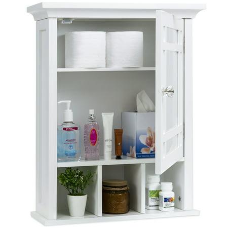 - Best Choice Products Home Bathroom Vanity Mirror Wall Organizational Storage Medicine Cabinet, White