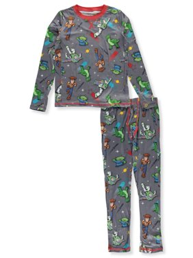 Cuddl Duds Boys' Disney Toy Story 4 2-Piece Stretch Poly Long Underwear Set