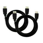 Ematic EMC62HD 6-Feet High-Speed HDMI 1080p Cables (2 Pack)