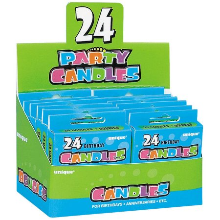 (5 Pack) Boxed Birthday Candles, 2.5 in, Assorted, 24ct