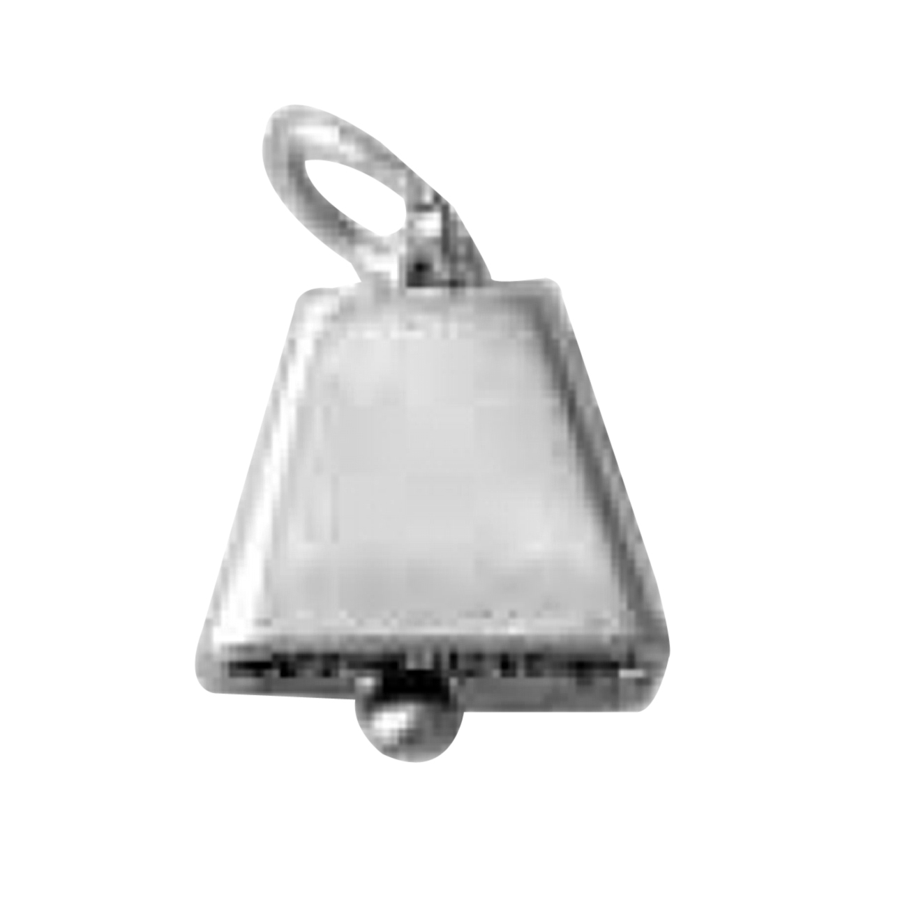 Sterling Silver Girls .8mm Box Chain Bell Bottoms Pendant Necklace