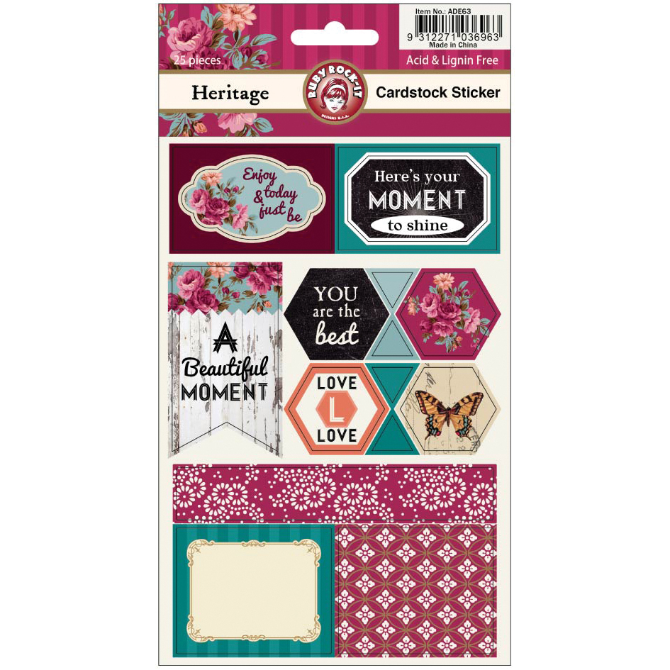Heritage Cardstock Stickers 2 Sheets/Pkg-