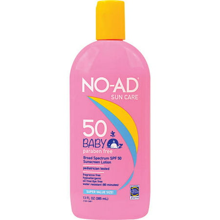 No-Ad Sun Care Baby Broad Spectrum SPF 50 Sunscreen Lotion, 13 Fl Oz