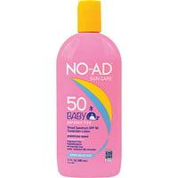 No-Ad Sun Care Baby Broad Spectrum SPF 50 Sunscreen Lotion, 13 Fl Oz