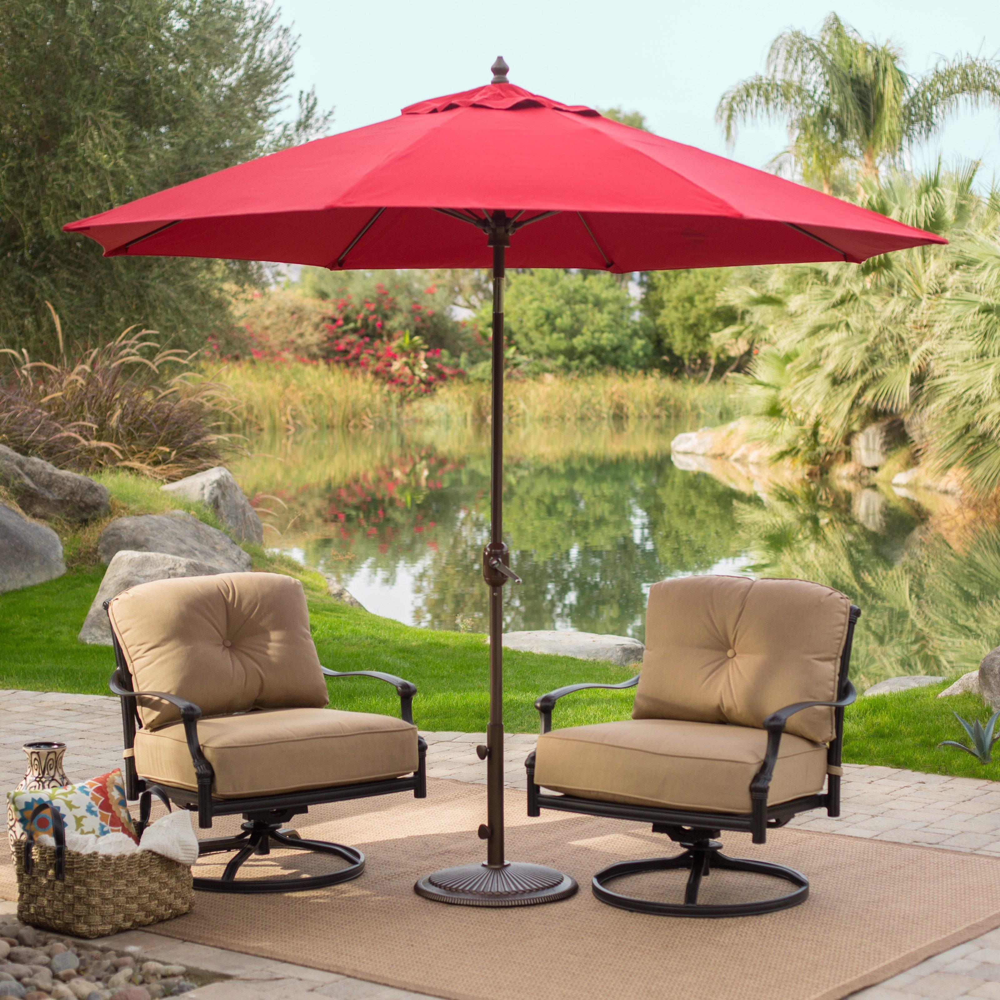 Coral Coast 9-ft. Sunbrella Deluxe Tilt Aluminum Patio Umbrella ...