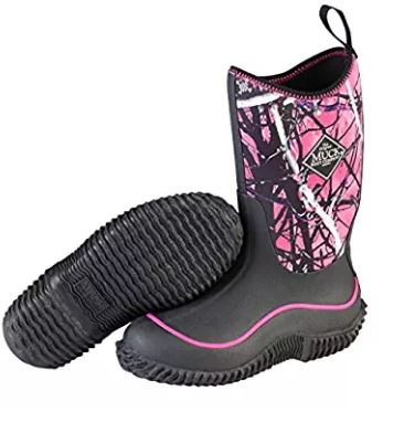 Muck Boots Kids Hale Black Muddy Camo Snow Boot Girl Rubber Sole Breathable C11 by Co-operative Feed Dealers Inc.