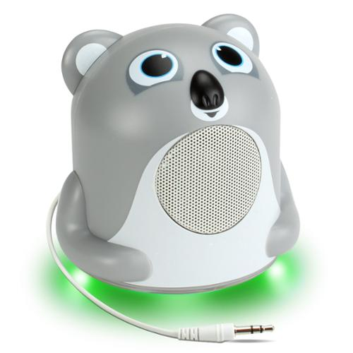 GOgroove Koala Bedside Speaker with LED Glow , Cute Animal Design & 3.5mm Cable to Connect to Phones - Works with Apple iPhone 6s , Samsung Galaxy S6 Edge , LG G4 & More