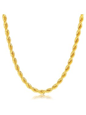Jewelers 14K Solid Gold 4MM Rope Chain Necklace BOXED