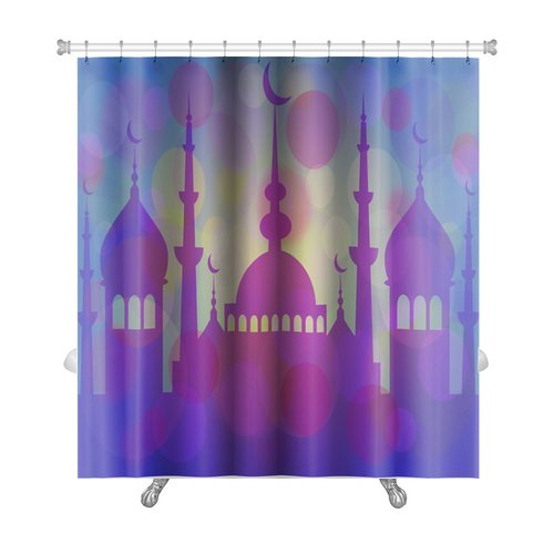 Gear New Arabic Touch Mosque at Beginning of Ramadan Premium Shower Curtain