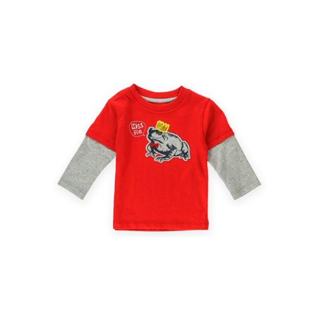 Gymboree Boys Kiss Me Frog Embellished T-Shirt