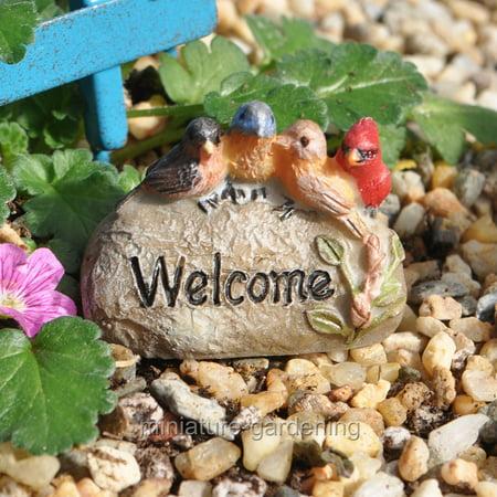 Miniature Welcome Rock for Miniature Garden, Fairy Garden ()