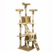 "XtremepowerUS 67"" Condo Cat Tree Scratching Posts Cat Hammock House"