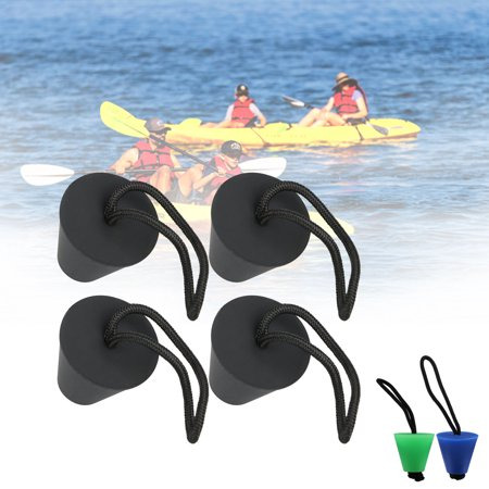 Pack of 4 Universal Kayak Scupper Plug Kit,Fit for: Hobie Kayaks, Native Kayaks, Wilderness Systems Kayaks, Feelfree Kayaks, Perception Kayaks, Old Town Kayaks, Plus All Other Major Brands (Hobie Kayak Used)