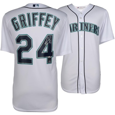 the best attitude b5139 a7f52 Ken Griffey Jr. Seattle Mariners Autographed White Majestic Jersey with