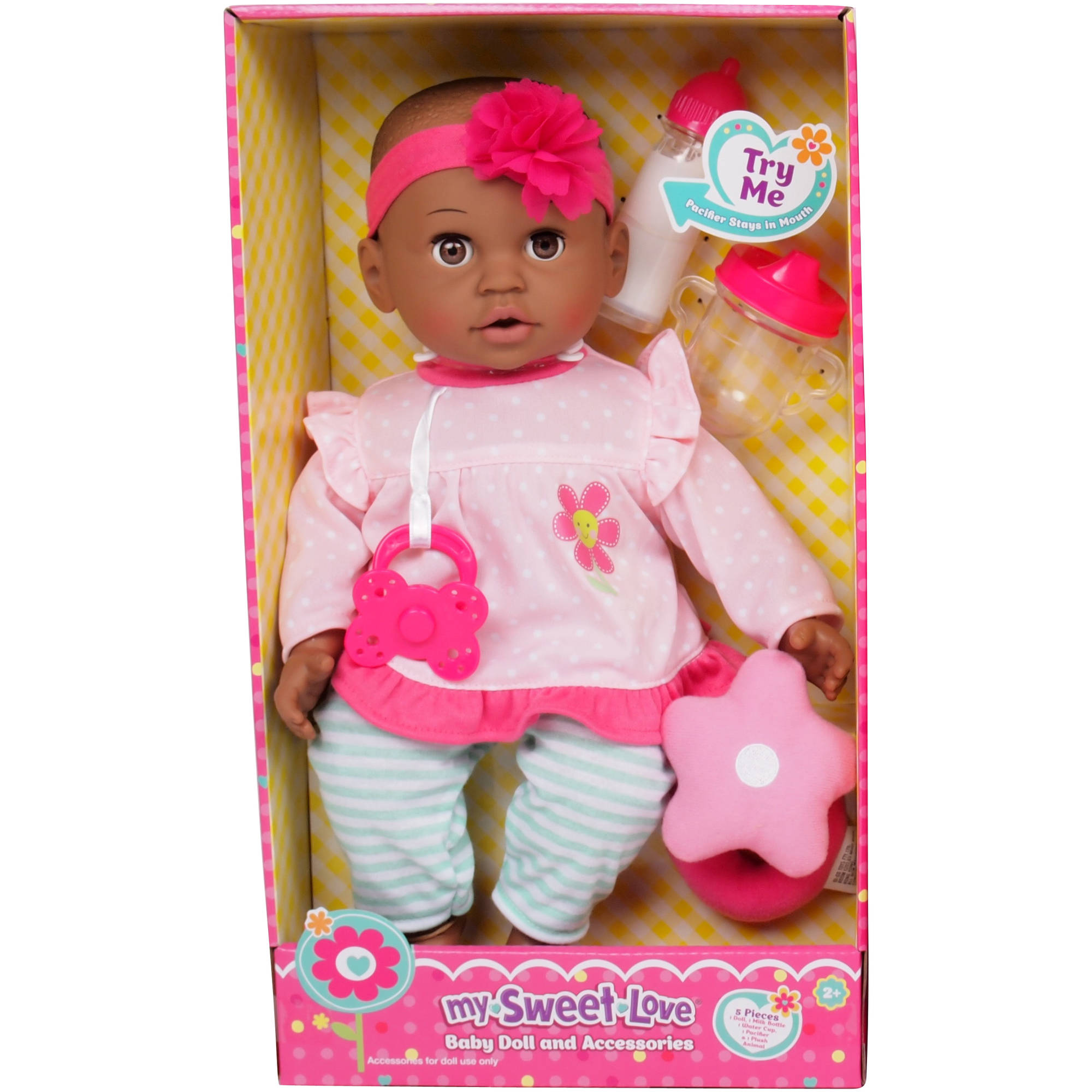 "MSL 14"" Baby Maggie Doll, Cat, African American"