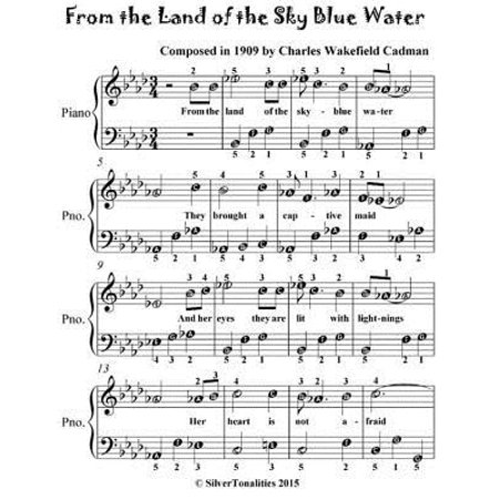 From the Land of the Sky Blue Water - Easiest Piano Sheet Music for Beginner Pianists -