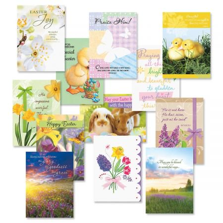 Easter Faith Cards Value Pack - Set of 12 (1 of - Christian Easter Cards