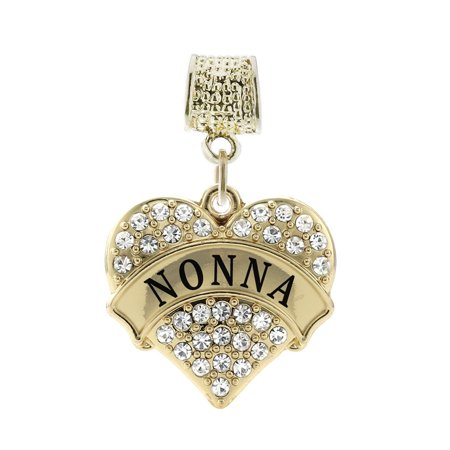 nuovo stile f2b50 ccf84 Inspired Silver - Nonna Gold Pave Heart Memory Charm ...