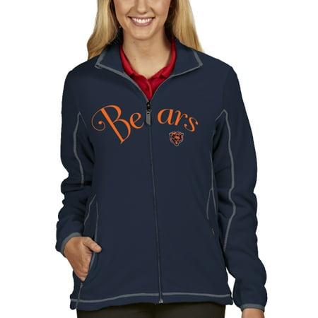 Chicago Bears Antigua Women's Ice Full Zip Jacket - Navy Blue - S