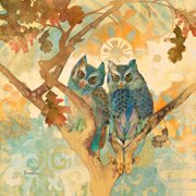 """Marmont Hill """"Parish Owls"""" by Evelia Painting Print on Wrapped Canvas"""