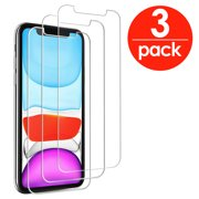 [3-PACK] TTECH For Apple iPhone 11 / XR / 12 / 12 Pro Tempered Glass Screen Protector Film Cover, Anti-Scratch, Anti-Fingerprint, Bubble Free, Clear, In Retail Box [fits iPhone XR / 11 / 12 / 12 Pro]