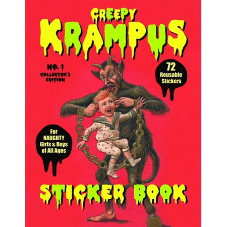 Krampus Sticker Book : 72 Reusable Stickers for Naughty Girls and Boys of All Ages - Krampus The Christmas Demon