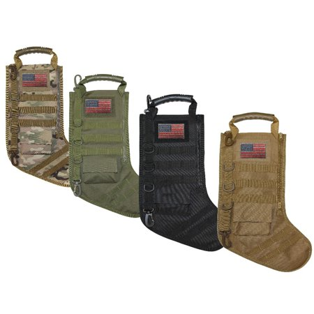 Tactical Christmas Stocking with Molle Gear (OD Green) - Green Christmas Stockings