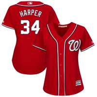 Bryce Harper Washington Nationals Majestic Women's Plus Size Alternate Cool Base Player Jersey - Scarlet