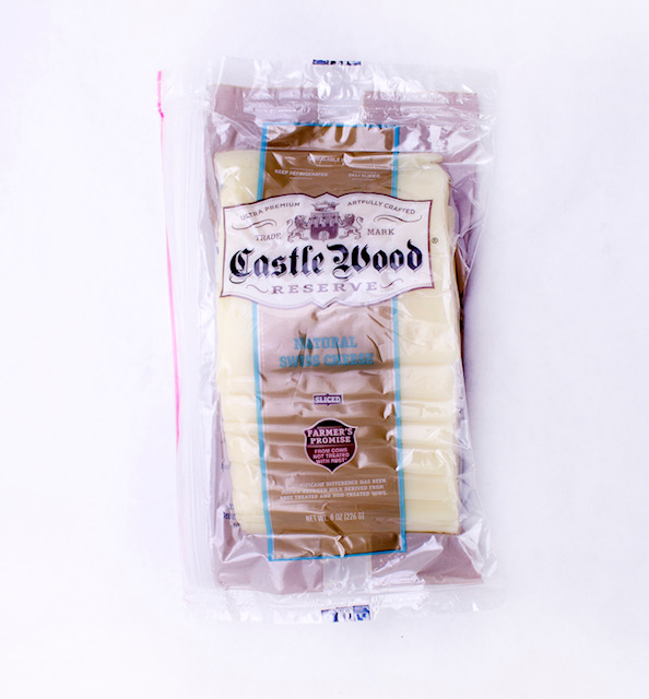 Castlewood Sliced Swiss Cheese, 8oz