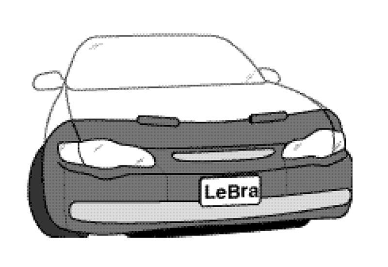 LeBra Front End Cover Chevrolet Monte Carlo Black Vinyl