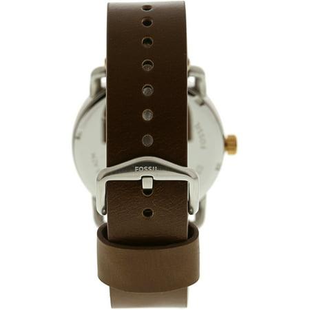 Fossil Men's Commuter FS5417 Brown Leather Japanese Quartz Dress Watch - image 2 de 3