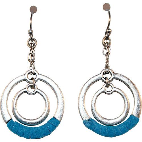 Frenzeee Suede Wrapped Earrings