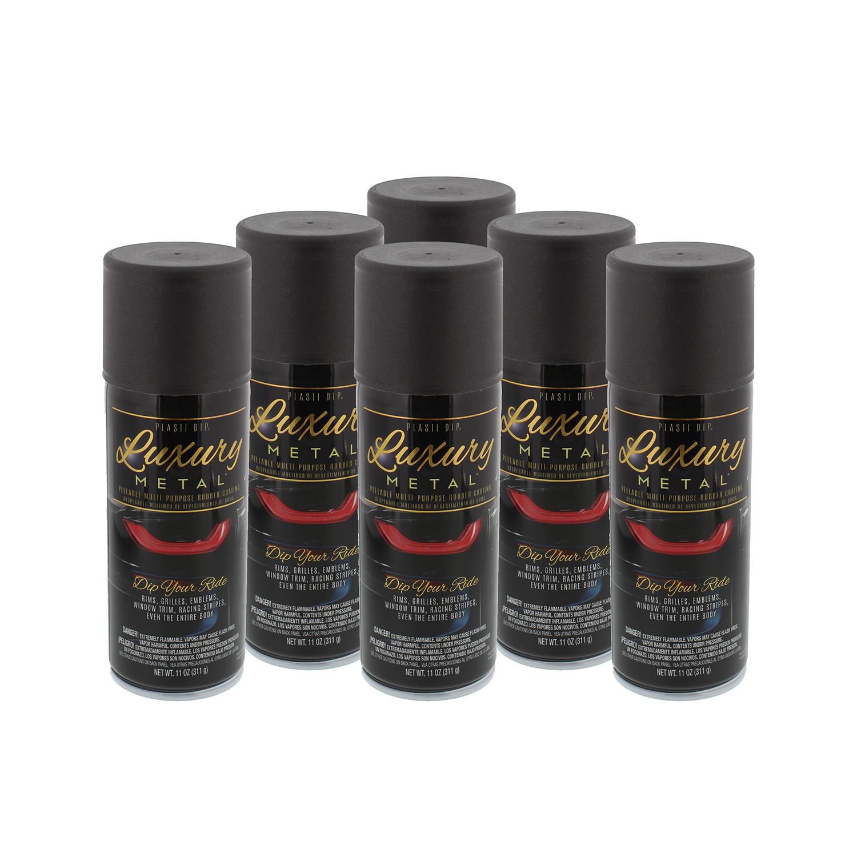 Performix Plasti Dip 11350 Luxury Metal Rubber Coating, Black Sapphire, 6 Cans