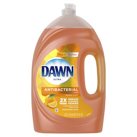 Dawn Ultra Antibacterial Hand Soap, Dishwashing Liquid Dish Soap, Orange Scent, 75 fl oz