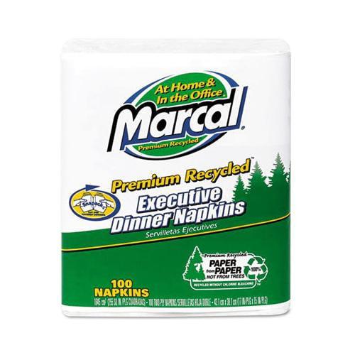 Marcal Executive Dinner Napkins, Twp-ply, 17 X 15, White MAC6520