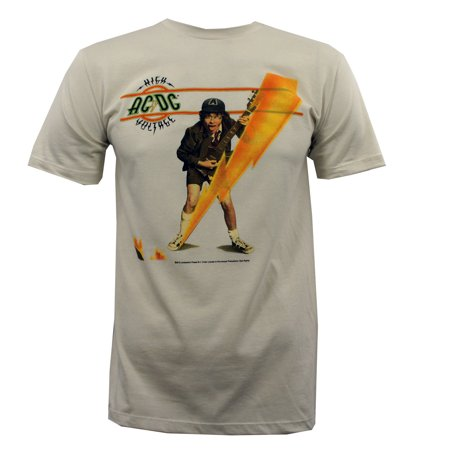 208a60b90a3 IMPACT - AC DC High Voltage Album Cover Angus Young Slim Fit T-Shirt ...