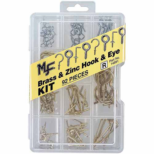 Midwest Fastener Corp Hook and Eye Assortment Kit